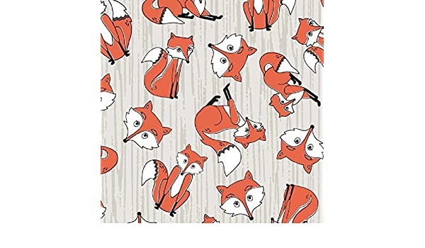 Fat Quarter Timberland Critters All Around Fox Cotton Quilting Fabric
