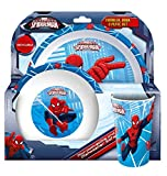 Spider-Man Tumbler, Bowl and Plate Set, Red White, 8.5 x 23.5 x 23