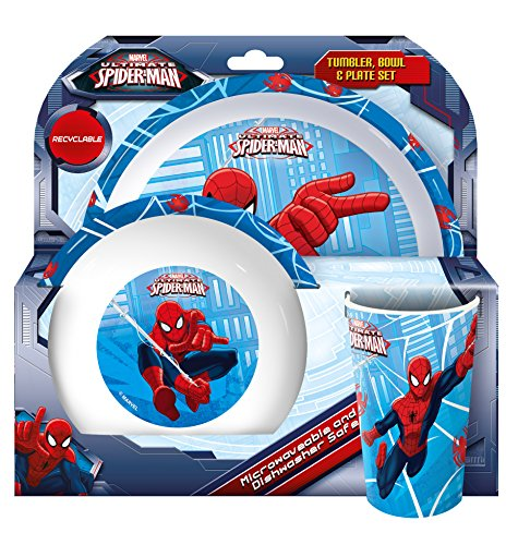 Spider-Man Verre, bol et assiette Rouge