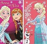 Disney Frozen-Elsa la regina di ghiaccio-asciugamani, asciugamani viso, 35* 65cm (Confezione da)