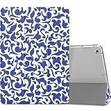 MoKo Etui pour Nouvel iPad 9.7 pouces 2017 - Etui à rabat avec support ultra-mince et léger avec semi-transparent protecteur en Polycarbonate pour Tablette Apple Nouvel iPad 9.7 pouces 2017, Porcelaine chinoise (Auto Réveil / sommeil)