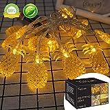 LED Lichterkette LED String licht Aussen Ananas Led Lichterkette Außen Batterie Deko Für Wohnzimmer,Schlafzimmer,Weihnachten,Hochzeit (2.2M 20LED) (Gelb)