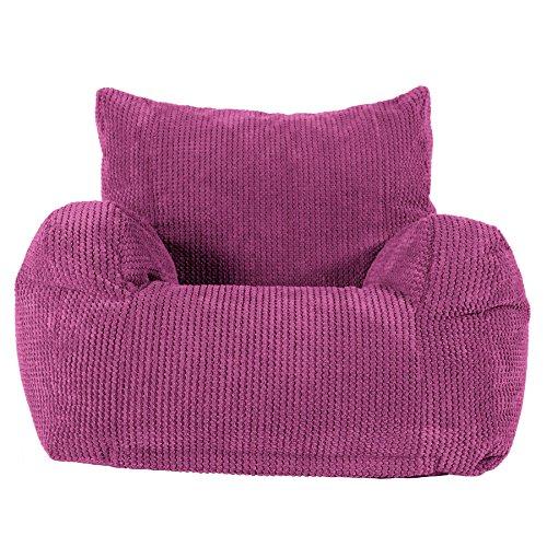 LOUNGE PUG, Sitzsack Ohrensessel, Pom-Pom Pink
