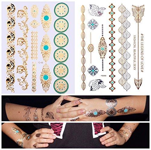 Gold Flash Tattoo doppio set 20motivi Bracciale dorso YS da 46+ 80