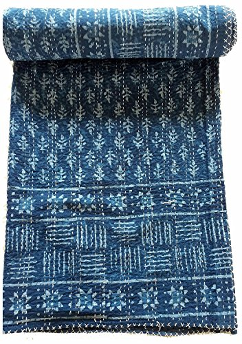 Sophia Art Indian Azul Indigo Color Bloque Mano Rural