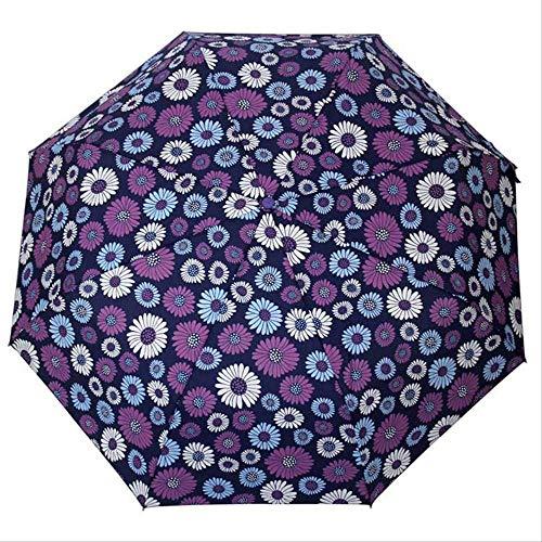 LZBDKM Kreative Regenschirm Regen Männer Frauen 3-Fach Licht und Langlebig Starke Regenschirme Kinder Regnerisch Sonnig GroßhandelNavy -