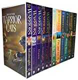 Warrior Cats: Series 1 and 2 - The Prophecies Begin and The New Prophecy by Erin Hunter 12 Books Set (In to the Wild, Fire and Ice, Forest of Secrets, Rising Storm, A Dangerous Path, The Darkest Hour, Midnight, Moon Rise, Dawn, Starlight, Twilight, Sunset)