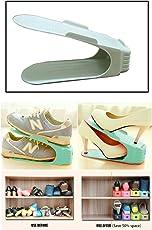 VDS Plastic Shoe Organizer(Set of 6) Shoe organizer space saver Intelligent Shoe Storage Organizer