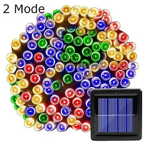 WSYYWD LED Solar Lichterkette wasserdichte Outdoor Girlande Weihnachtsbaum Dekoration Multi Color (2 Mode) 7M 50LEDs