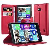 Cadorabo Hülle für Nokia Lumia 929/930 Hülle in Karmin Rot Handyhülle mit Kartenfach und Standfunktion Case Cover Schutzhülle Etui Tasche Book Klapp Style Karmin-Rot