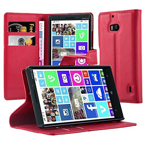 Cadorabo Hülle für Nokia Lumia 929/930 Hülle in Karmin Rot Handyhülle mit Kartenfach & Standfunktion Case Cover Schutzhülle Etui Tasche Book Klapp Style Karmin-Rot