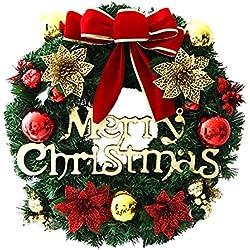Fuoriporta natalizio rendi la tua porta festosa e accogliente shopgogo - Ghirlanda porta natale ...