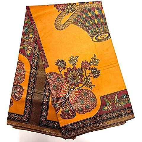 Wax tessuto Pagne africano modele Java Cestino di fiori stampato 6Yards 100% cotone