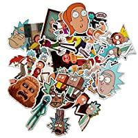 LBTrading Drama Rick y Morty Stickers Impermeable Aleatorio Estilos Trendy Graffiti Pegatinas para Equipaje Maleta Skateboard Laptop Phone Car Bike 36 PCS