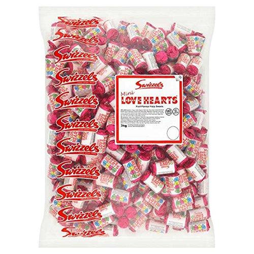 Dekorationen Party British (British Swizzels Love Hearts Mini Roll Candy: 3kg Bag, (Approx 300 Rolls) by Love)