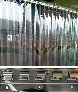H3,50 x B1,75 m VZ PVC Streifenvorhang Lamellen 3x300mm fertig vormontiert