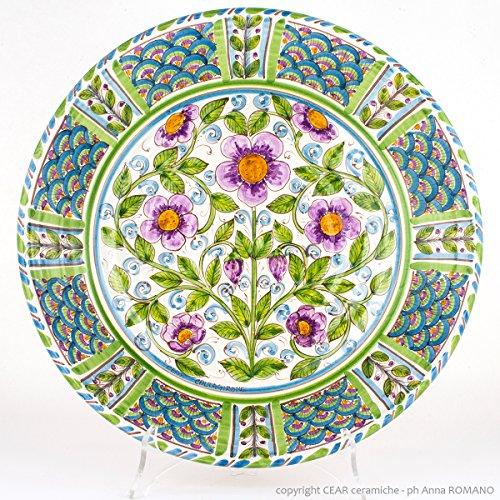 Assiette décorative en céramique de Caltagirone, Fangotto décoré à la main