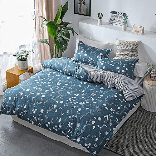 JSDJSUIT Bettwäsche gesetzt Landschafts-Bettwäsche-Set Bettbezug Bettwäsche Bettlaken Kissenbezug King Queen Twin-King 4st