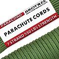 Brotree Paracord 550 Schnur mit 7 Strängen Nylonschnur Fallschirmschnur Typ III Mil Spec Survival Seil 250 KG Bruchfestigkeit ?Standard, Reflektierende? von Brotree
