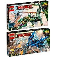 The Lego Ninjago Movie 2pcs. Set 70614 70612 Lightning Jet + Green Ninja Mech Dragon