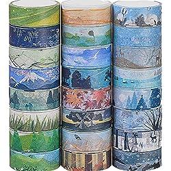 24 rollos cinta adhesiva decorativa pared de diferentes estilos