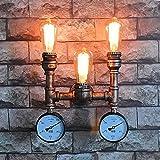 Pumpink 3 Kopf Nordic Amerikanischen Eisen Industrie Wand Lampen Vintage Wasser rohr Wandleuchten Schlafzimmer Pub Nachttischlampe Dekoration E27 Beleuchtung