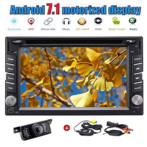 Eincar Double 2 din 6,2-Zoll-Autoradio Android 7.1 Quad-Core-Car PC Head Unit Autoradio-Stereo GPS Navigation im Schlag-Auto-DVD-Spieler mit Bluetooth WIFI AM / FM-RDS-Spiegel Link-OBD2 Mikrofon + Wireless Backup-Kamera