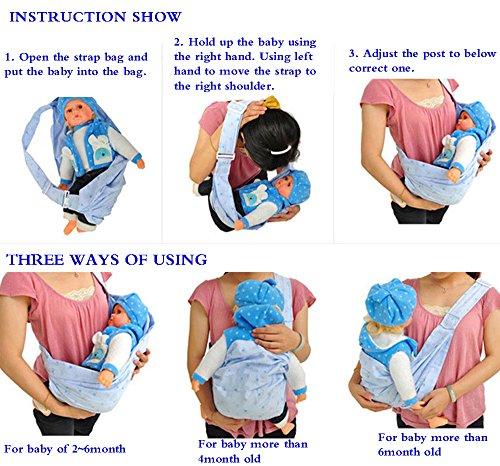 Glield Fular Portabebés para Infantes Baby Sling Cuna de la Bolsa Honda ETBD02-PIC4