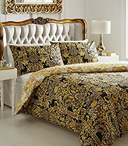 de cama mailand bettw sche set gold super king k che haushalt. Black Bedroom Furniture Sets. Home Design Ideas