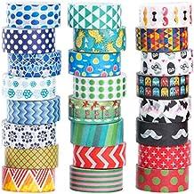 Cintas adhesivas decorativas Mooker, para manualidades y regalos, 24 rollos