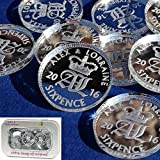 50 Small (2cm) Personalised Lucky Sixpence Bridal Wedding Favours and Table Sprinkles / Confetti - Good luck charm - Acrylic - LittleShopOfWishes