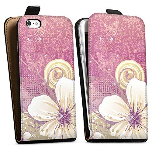 Apple iPhone X Silikon Hülle Case Schutzhülle Blüten Blumen Ornamente Downflip Tasche schwarz