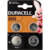 Duracell Specialty 2032 Lithium Coin Battery 3V, Pack Of 4, With Baby Secure Technology And Suitable For Keyfobs, Scales…