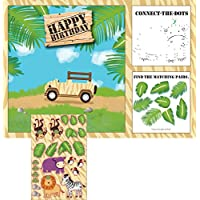 Safari Adventure Activity Placemats with Stickers pk8