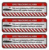 Finest-Folia, 9 adesivi su GPS per bicicletta, moto, auto, adesivi con effetto antifurto, adesivo con scritta in lingua inglese che avverte sulla presenza di un dispositivo di tracciabilità