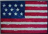 Fußmatte / Schmutzabstreifer / Fussmatte Fussabstreifer Sauberlaufmatte / Türfußmatte / Fußabstreifer / Fußabtreter / Türmatte / Motivfußmatte / Fußmatte / Schmutzfangmatte / Fußmatte Fußmatte witzige Schmutzabstreifer Motivfußmatte - USA / Amerika / Vereinigte Staaten / Stars and Stripes / Sternenbanner / Angenehmes Laufgefühl / flexibel einsetzbar / Rutschfest / Größe ca. 50 x 70 cm wash+dry -waschbar