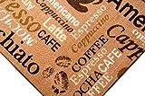 Teppich Modern Flachgewebe Gel Läufer Küchenteppich Küchenläufer Braun Beige Schwarz mit Schriftzug Coffee Macchiato Cappuccino Espresso Größe 67×180 cm - 2