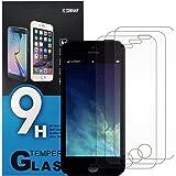 YC COMPANY - Lot de 3, Verre Trempé Compatible avec iPhone 5/5C/5S/SE. Film Protection Écran Anti Rayures Ultra Résistant (0,