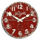 Newgate hielo crema reloj de fábrica, Red-P, madera, Rojo, 121 x 182 x 2.54 cm