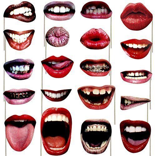 Sexy Kostüm Kiss - musykrafties Lippen Realistische Photo Booth Requisiten Funny Mouth 20 Count