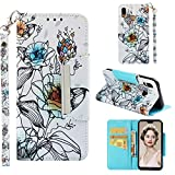 Nnopbeclik Huawei P20 Lite Coque Portefeuille Antichoc 360, Huawei P20 Lite Protection Etui A Rabat Cuir Flip Case [Stand] [Magnetic] Housse Huawei P20 Lite Porte Carte Full Complete