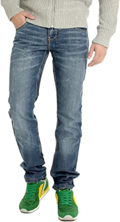 CrossHatch - Jeans-Tech new embossed comfort fit straight denim stone wash