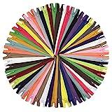 YaHoGa 80 Stück 30 cm Langer Reißverschlüsse Reissverschluss, 3mm Laufschiene Reißverschluss, in 20 Verschiedenen Farben (30 cm 80 Stück)