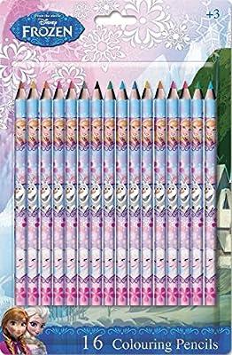 Disney - Blíster con 16 lápices de colores frozen, el reino de hielo por Disney