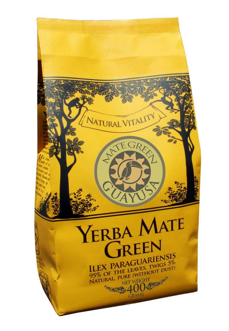 Yerba-Mate-Green-Guayusa-Brasilianischer-Mate-Tee-400g-Fruchtiges-Mate-Tee-mit-Ilex-Guayusa-Blatt-Bittermelonenpulver-Aloe-Vera-Pulver-Apfelaroma