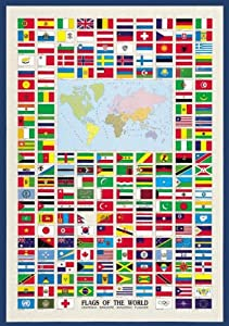 International Publishing 0804N00008b-Flags of The World, clásica Puzzle