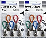 HANDTUCHCLIPS 10 Stück Handtuchhalter Geschirrtuch Aufhänger ANGEBOT 2 PACK Clip-Aufhänger