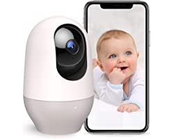 Nooie Baby Monitor WiFi Dog Pet Camera Indoor,360-degree Wireless IP Camera,1080P Home Security Camera,Motion Tracking,Night
