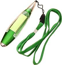 Haodou Tintenroller Tinte Kugelschreiber Gelschreiber LED-Licht Haftnotizpapier Lanyard Kugelschreiber für Jungen Mädchen Kinder Studenten Stiftlänge beträgt 13cm(grün)