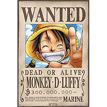 ABYstyle ABYDCO144 - Affiche - One Piece - Wanted Luffy
